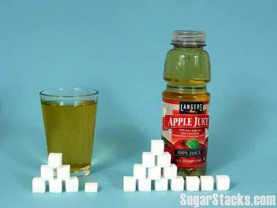 52 grams of sugar in Langers Apple Juice, calories