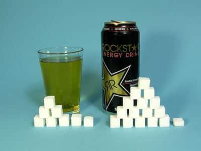 62 grams of sugar in Rockstar Energy Drink, calories