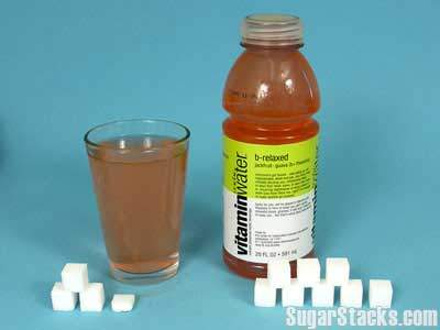 32 grams of sugar in Vitamin Water, calories