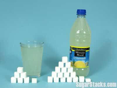 70 grams of sugar in Minute Maid Lemonade, calories