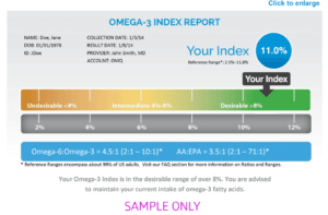 omega 3 fatty acid testing